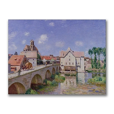 Trademark Fine Art Alfred Sisley 'The Bridge at Moret 1893' Canvas Art