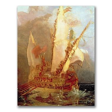 Trademark Fine Art Joseph Turner 'Ulysses Deriding Polyphemus' Canvas Art