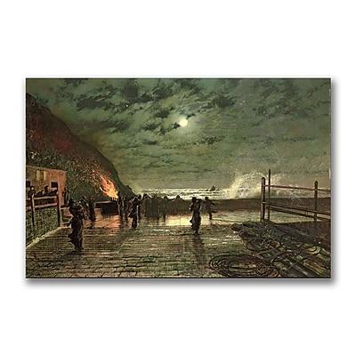 Trademark Fine Art John Grimshaw 'In Peril' Canvas Art 22x32 Inches