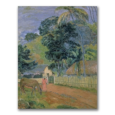 Trademark Fine Art Paul Gauguin 'Landscape 1889' Canvas Art 24x32 Inches