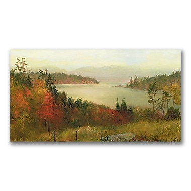 Trademark Fine Art Homer Martin 'Raquette Lake 1869' Canvas Art 16x32 Inches