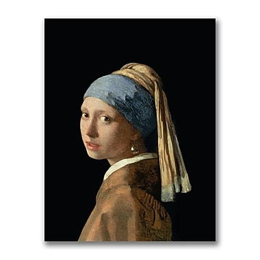 Trademark Fine Art Jan Vermeer 'Girl with a Pearl Earring' Canvas Art
