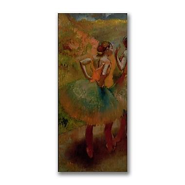 Trademark Fine Art Edgar Degas 'Dancers wearing Green Skirts' Canvas Art 12x24 Inches