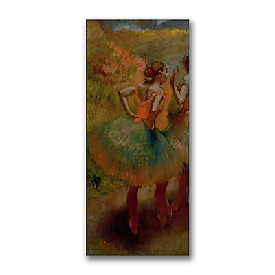 Trademark Fine Art Edgar Degas 'Dancers wearing Green Skirts' Canvas Art 12x24 Inches