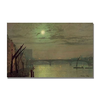 Trademark Fine Art John Atkinson 'Southwark Bridge 1882' Canvas Art 14x24 Inches