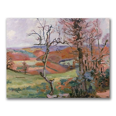 Trademark Fine Art Jean Baptiste 'The Puy Barion at Crozant' Canvas