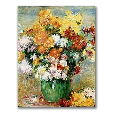 Trademark Fine Art Pierre Renoir 'Bouquet of Chrysanthemums' canvas art 35x47 Inches