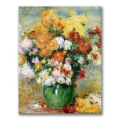 Trademark Fine Art Pierre Renoir 'Bouquet of Chrysanthemums' canvas art 18x24 Inches