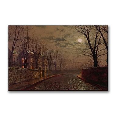 Trademark Fine Art John Grimshaw 'Moonlit Street Scene' Canvas Art 30x47 Inches