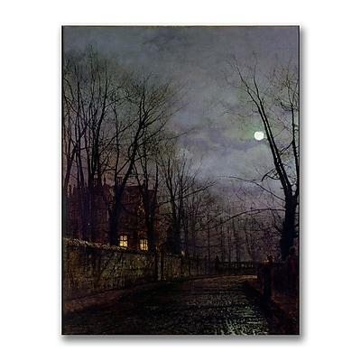 Trademark Fine Art John Grimshaw 'Moonlit Street Scene II' Canvas Art