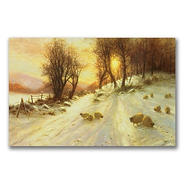 Trademark Fine Art Joseph Farquharson 'Sheep in the Winter' Canvas Art