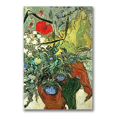Trademark Fine Art Vincent Van Gogh 'Bouquet of Wild Flowers' Canvas Art 22x32 Inches
