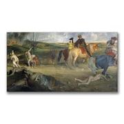 Trademark Fine Art Edgar Degas 'Scene of War in the Middle Ages' Canvas Art