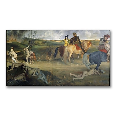 Trademark Fine Art Edgar Degas 'Scene of War in the Middle Ages' Canvas Art 16x32 Inches