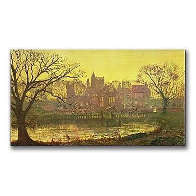 Trademark Fine Art John Grimshaw 'The Moated Grange' Canvas Art 14x24 Inches