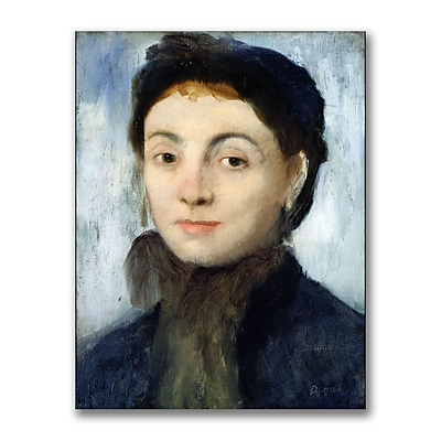 Trademark Fine Art Edgar Degas 'Portrait of Josephine Gaujelin' Canvas Art
