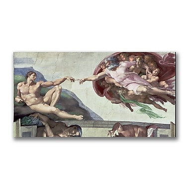 Trademark Fine Art Michelangelo 'Sistine Chapel Ceiling' Canvas Art 12x24 Inches
