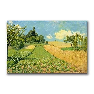 Trademark Fine Art Alfred Sisley 'The Cornfield' Canvas Art