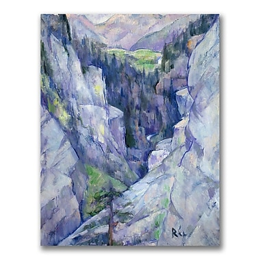 Trademark Fine Art Anite Ree 'Ravine at Pians 1921' Canvas Art