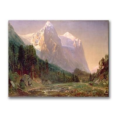 Trademark Fine Art Thomas Whittredge 'Sunrise on the Wetterhorn 1858' Canvas 35x47 Inches