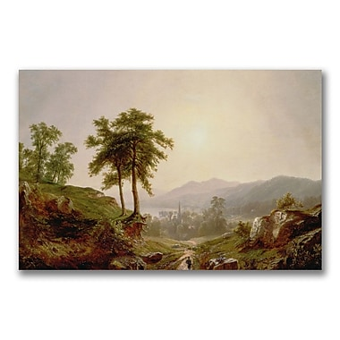 Trademark Fine Art John Casilear 'On the Path' Canvas Art 22x32 Inches