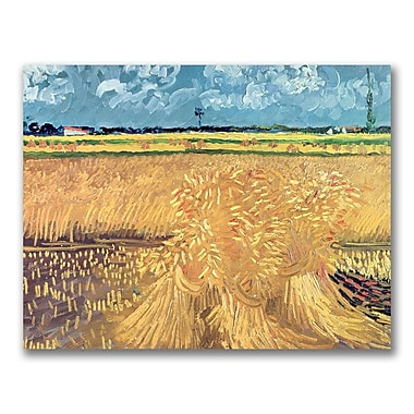 Trademark Fine Art Vincent Van Gogh 'Wheatfield with Sheaves 1888' Canvas Art