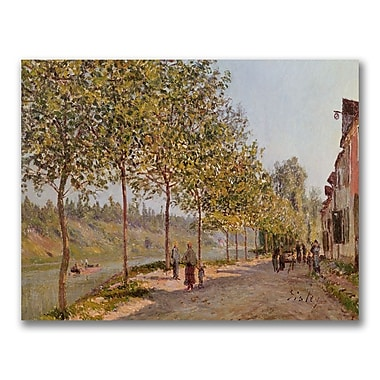 Trademark Fine Art Alfred Sisley 'June Morning in Saint-Mammes' Canvas Art