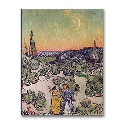 Trademark Fine Art Vincent Van Gogh 'Moonlit Landscape1889' Canvas Art
