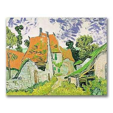 Trademark Fine Art Vincent Van Gogh 'Street in Auvers-sur-Oise' Canvas Art