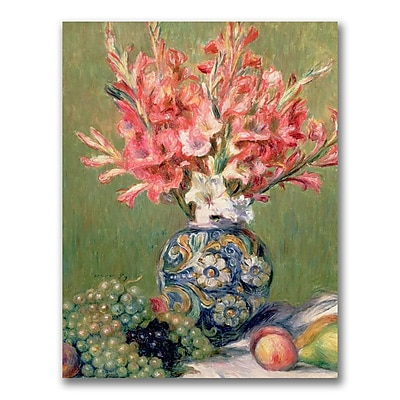 Trademark Fine Art Pierre Renoir 'Still life of Fruit and Flowers' Canvas Art 18x24 Inches