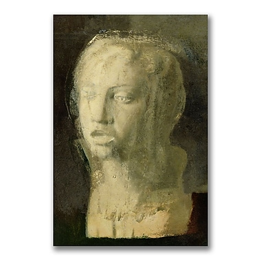 Trademark Fine Art Edgar Degas 'Study of the Head of a Young Singer' Canvas Art 16x24 Inches