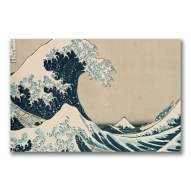 Trademark Fine Art Kanagawa-Katsushika Hokusai 'The Great Wave' Canvas Art