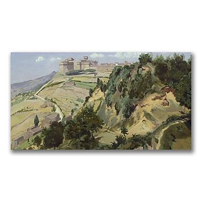 Trademark Fine Art Jean Baptiste Corot 'Volterra 1834' Canvas 12x24 Inches