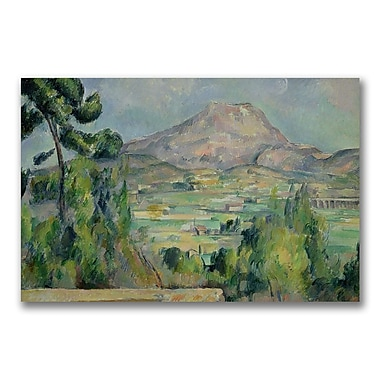 Trademark Fine Art Paul Cezanne 'Montagne Sainte-Victoire III' Canvas Art 30x47 Inches