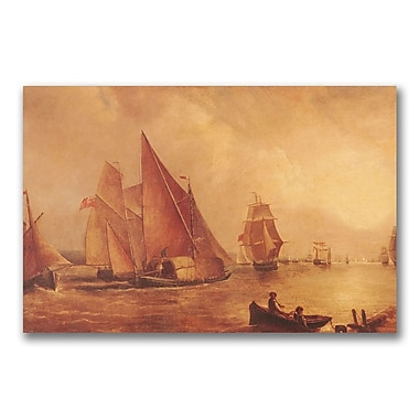 Trademark Fine Art Joseph Turner 'Estuary of the Thames' Canvas Art