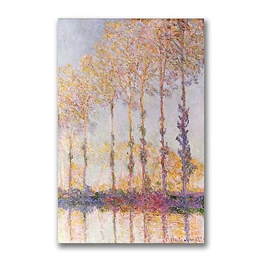 Trademark Fine Art Claude Monet 'Poplars on the Banks of the Epte' Canvas Art