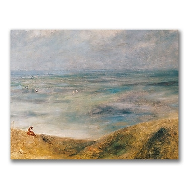 Trademark Fine Art Pierre Renoir 'View of the Sea Guernsey' Canvas Art 18x24 Inches