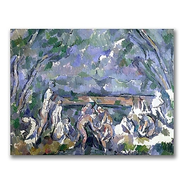 Trademark Fine Art Paul Cezanne 'The Bathers' Canvas Art 35x47 Inches