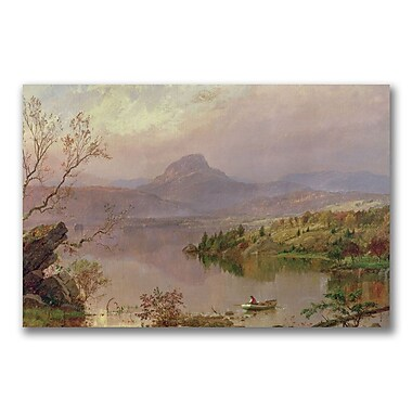 Trademark Fine Art Jasper Cropsey 'Sugarloaf from Wickham Lake' Canvas Art 22x32 Inches