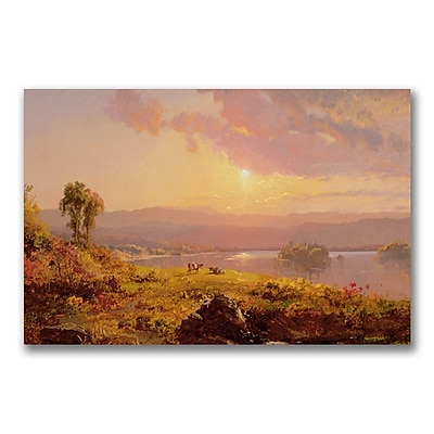 Trademark Fine Art Jasper Cropsey 'Susuehanna River' Canvas Art 18x24 Inches