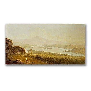 Trademark Fine Art Sanford Gifford 'Lake Winnipiegee' Canvas 12x24 Inches