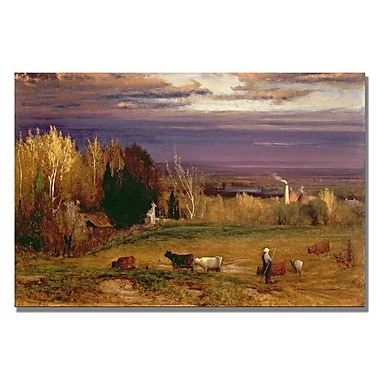 Trademark Fine Art George Inness 'Sunshine after Storm or Sunset' Canvas Art 16x24 Inches