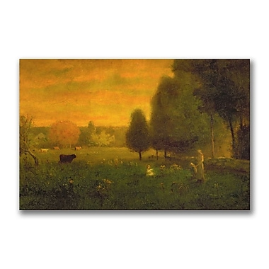 Trademark Fine Art George Inness 'Sundown Brillance' Canvas Art