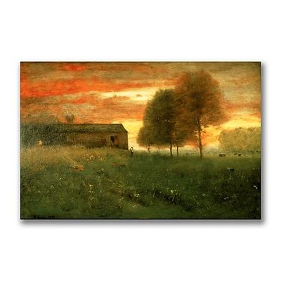 Trademark Fine Art George Inness 'Sunset Montclair 1892' Canvas Art 16x24 Inches