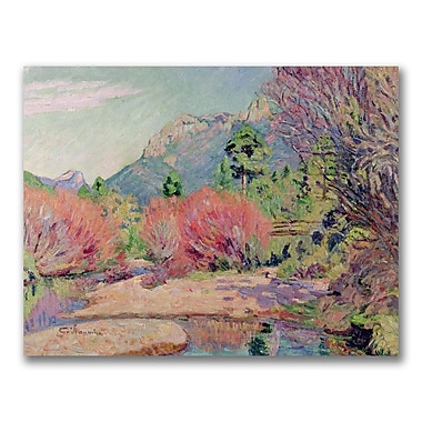 Trademark Fine Art Jean Baptiste Guillamin 'The Banks of the Sedelle' Canvas