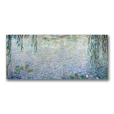 Trademark Fine Art Claude Monet 'Waterlillies Morning II' Canvas Art 10x24 Inches
