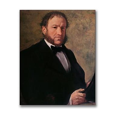 Trademark Fine Art Edgar Degas 'Portrait of Monsieur Ruelle' Canvas Art