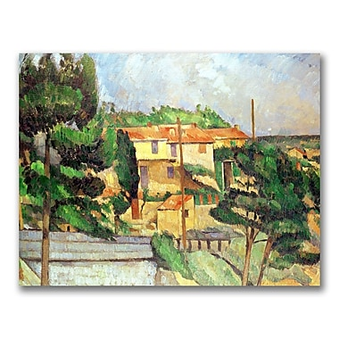 Trademark Fine Art Paul Cezanne 'Viaduct at Estaque' Canvas Art 24x32 Inches