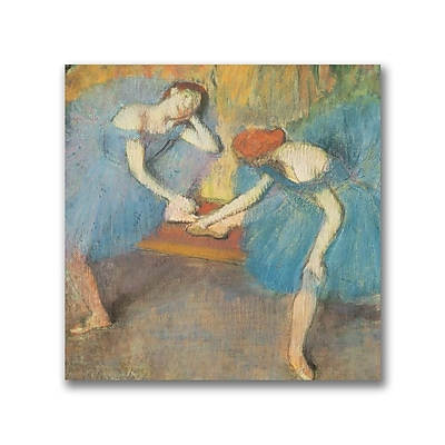 Trademark Fine Art Edgar Degas 'Two Dancers at Rest' Canvas Art 18x18 Inches