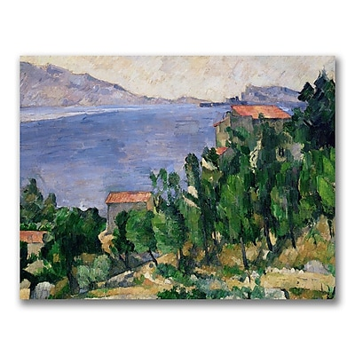 Trademark Fine Art Paul Cezanne 'View of Mount Marseilleveyre' Canvas Art 35x47 Inches